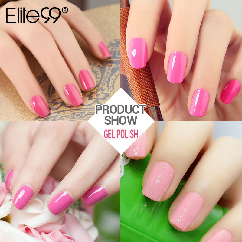 Elite99 10 ml Rosa Serie LED Lampe Nagel Uv Gel Polish Soak Off Nail art Dekorationen 1 stück acryl Nagel Lange Anhaltende
