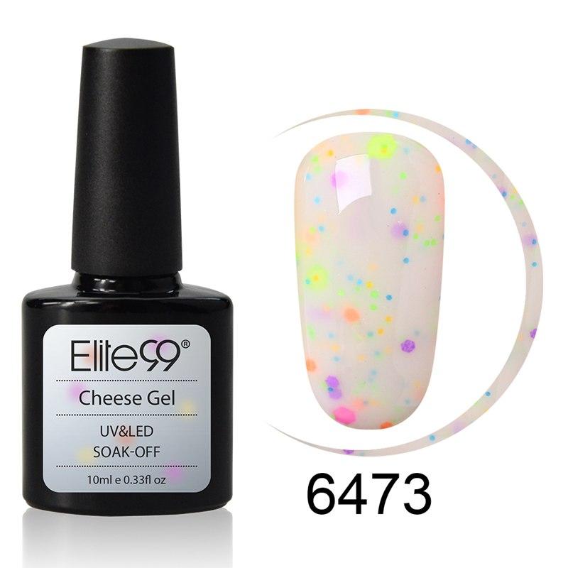 Elite99 10 ml Käse Candy Gel Nagellack Sandy Schimmer Semi Permanent Tränken Weg Top Basis Mantel UV LED DIY gel Lack Polish Gel