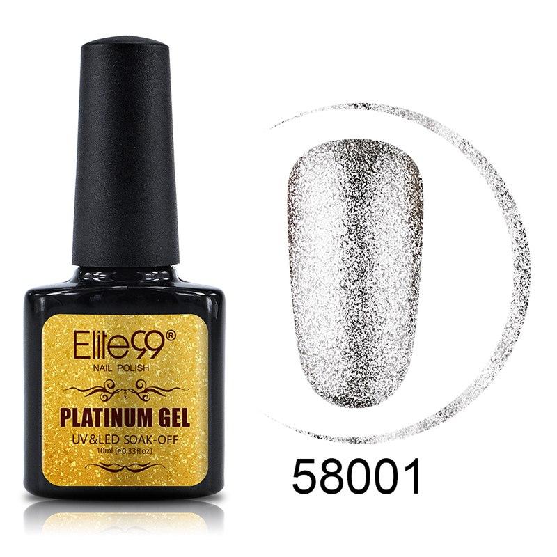 Elite99 Bling Schimmer Platin Gel Lack UV LED Tränken Weg Vom Polnischen Nail art Malerei Gel UV Gel Kit Maniküre UV nagellack 10 ml