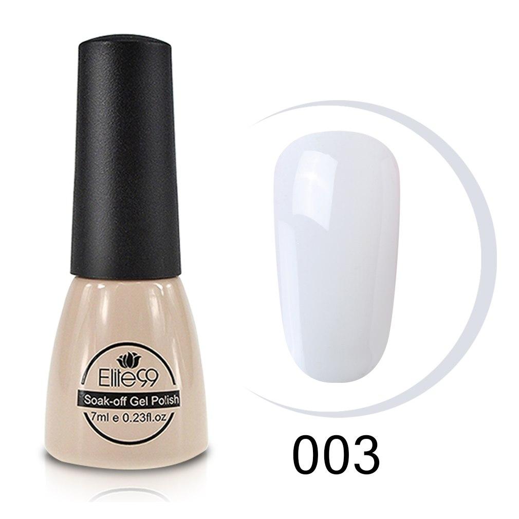 Elite99 7 ml Milchig Weiß Nagel Gel Polish Soak-off DIY Heiße Verkäufe Lange anhaltende Gel Nagel LED UV Maniküre Nagel Lacke