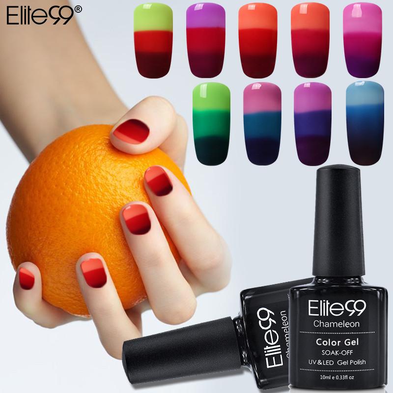 Elite99 3 In 1 Farbwechsel Nagel Gel Polish 10 ml Temperatur Veränderbar Farbe Soak Off Gel UV Gel Lack nail art Lack