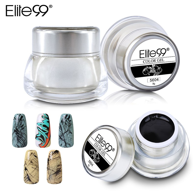 Elite99 Reine Malerei Gel 8g Nail art Lack Ziehen Acryl Glitter Farbe UV LED Soak Off Gel Nagel Gel polnischen 12 Farben Gel Lack